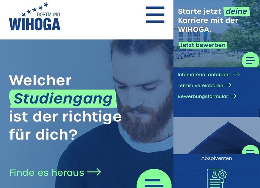 WIHOGA Website Screenshot