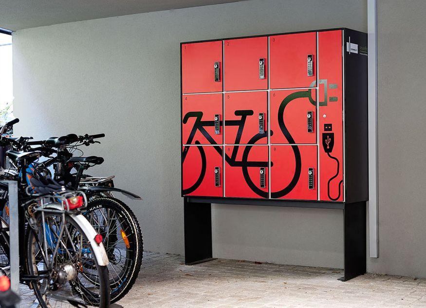 Kemmlit Hotellerie powerBox Schließfach Sicherheitspaket TÜV geprüft Tankstelle Akku E-Bike Fahrrad Smartphone Ladestation Schrankanlage Sicherheitspaket Ladegerät Aufbruchshemmung