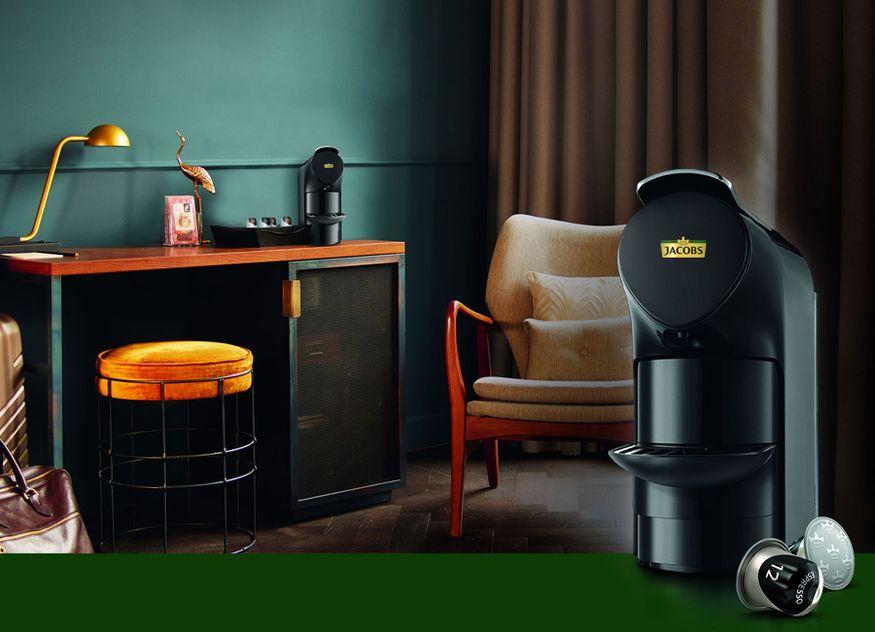Jacobs Professional Gastronomie Hotellerie Mini Kapselmaschine kompakt Hotelzimmer