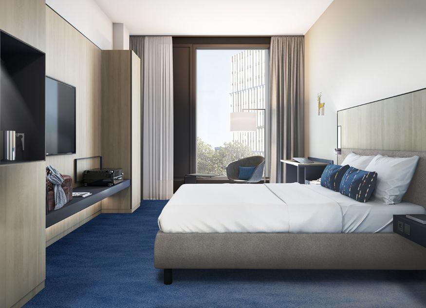 Die geräumigen Hotelzimmer mit Stadtblick verbinden Komfort mit Funktionalität und sind mit kostenlosem Highspeed-WLAN, Flachbild-TV, ergonomischem Arbeitsbereich und hochwertigen Marriott-Betten ausgestattet
