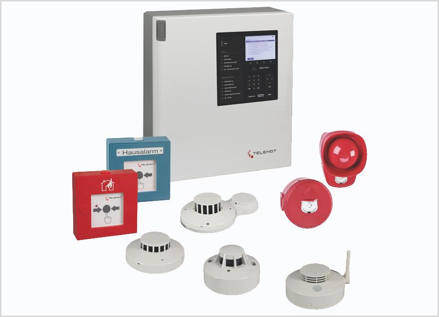 Telenot Alarmsysteme hifire 4000 BMT Brandwarnanlage DIN VDE V 0826-2 Erweiterungsmöglichkeit zukunftsfähig