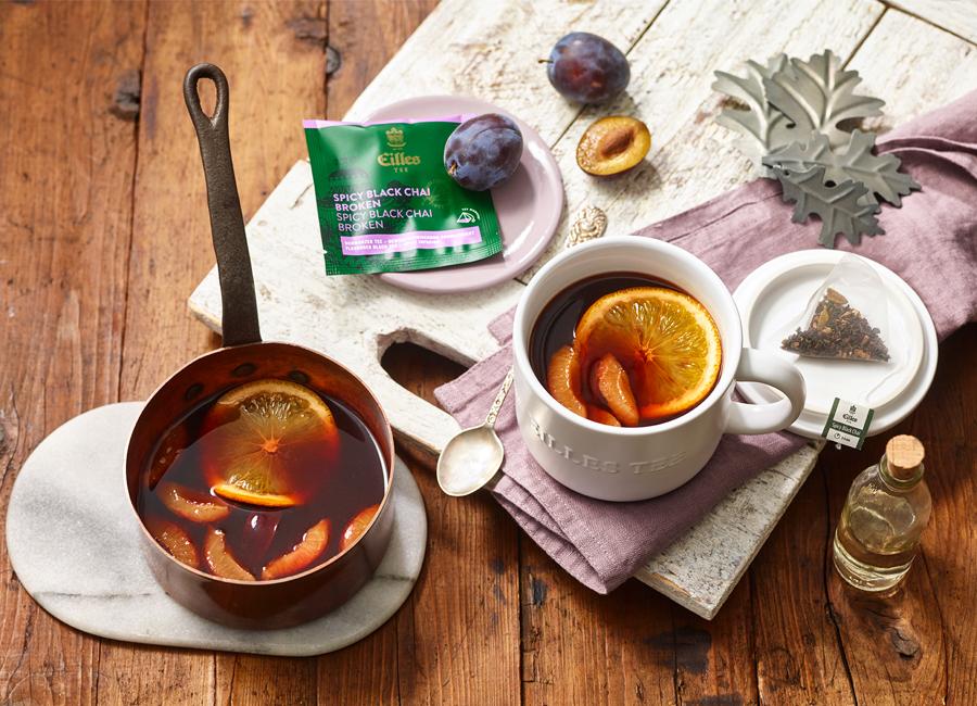 J.J. Darboven Gastronomie Hotellerie Getränk Rezept Punsch Pflaume Spicy Black Chai Herbst Winter