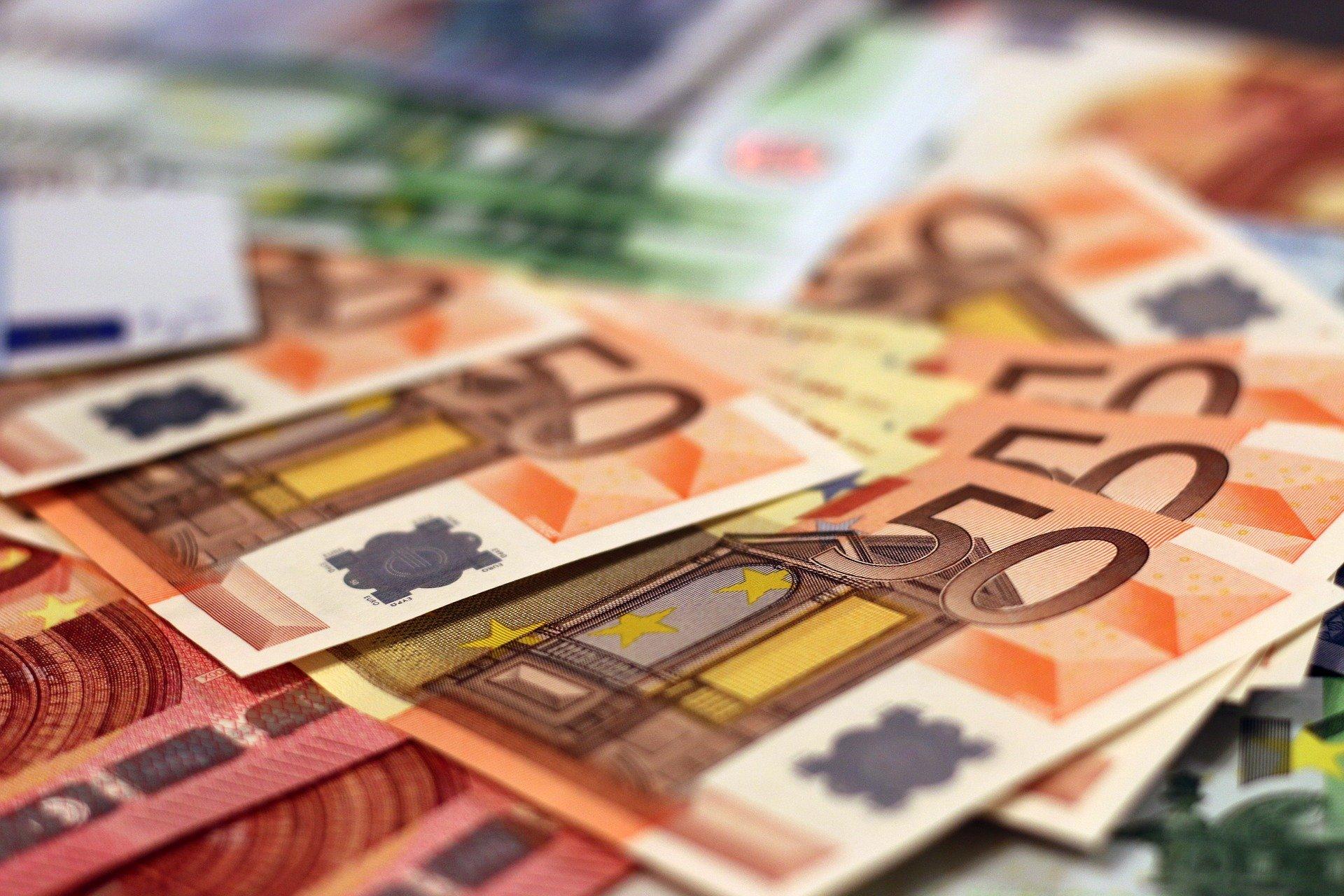 Geld Geldscheine Euros