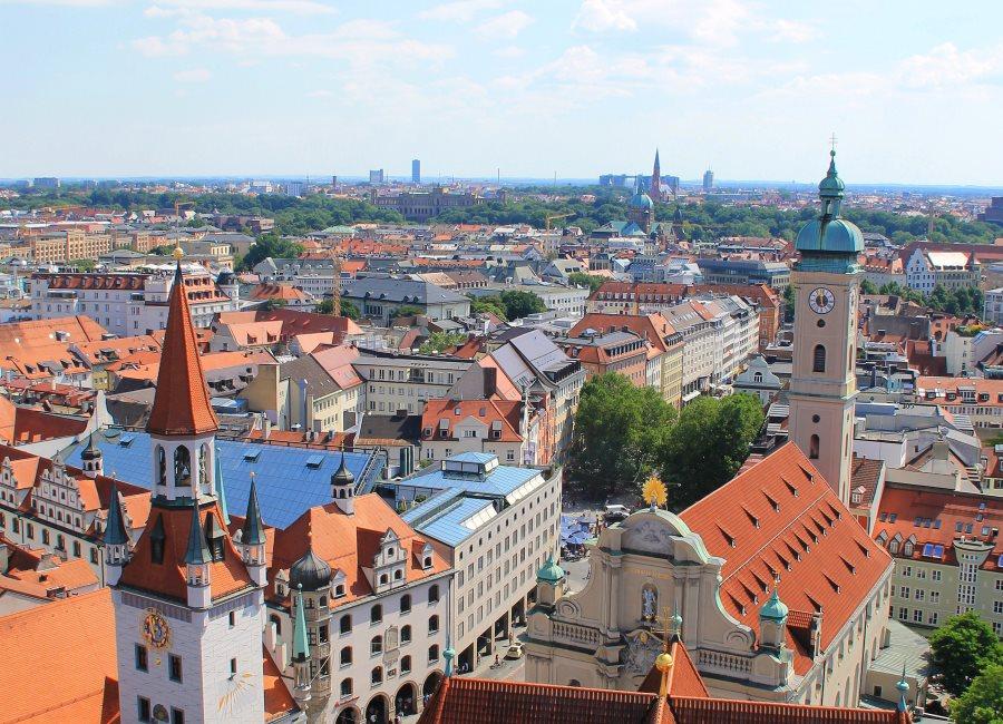 München Bayern Stadt Ausblick
