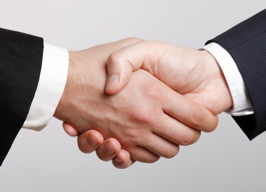 Hände schütteln Einigung Händeschütteln