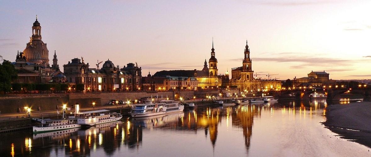 Dresden Elbe Fluss Abend
