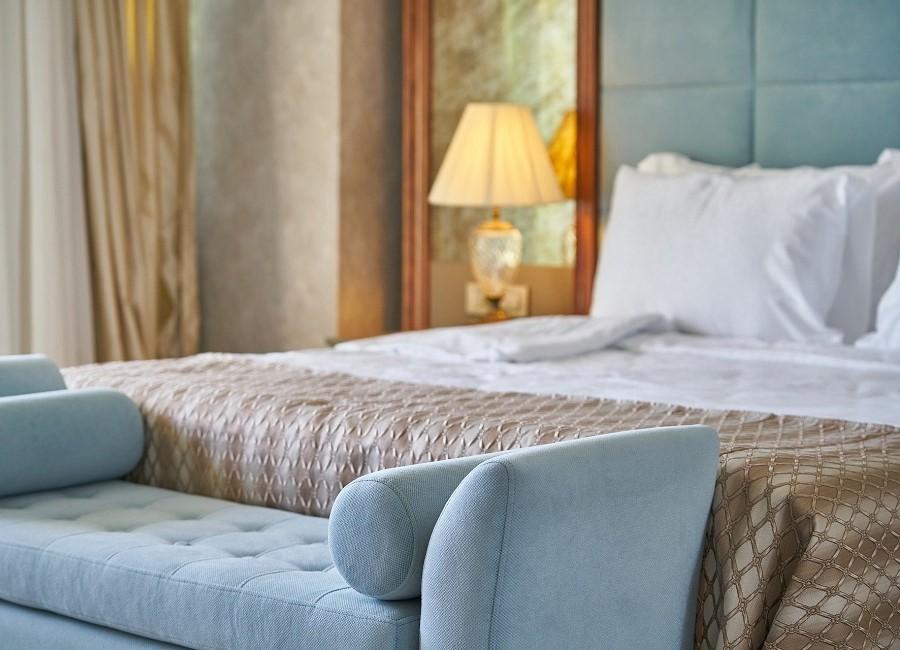 Bett Hotelbett Hotelzimmer