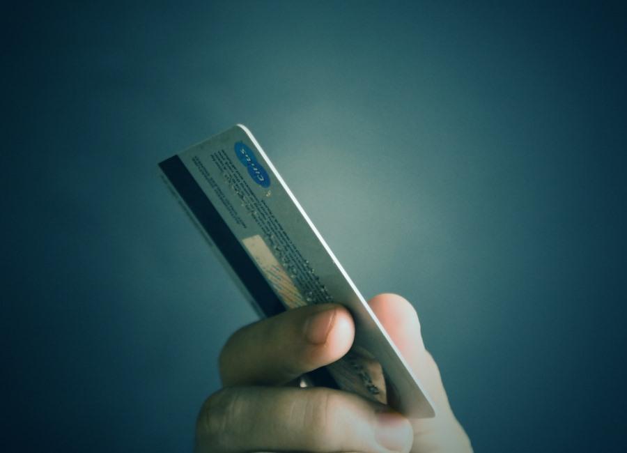 Kreditkarte Zahlung mit Karte