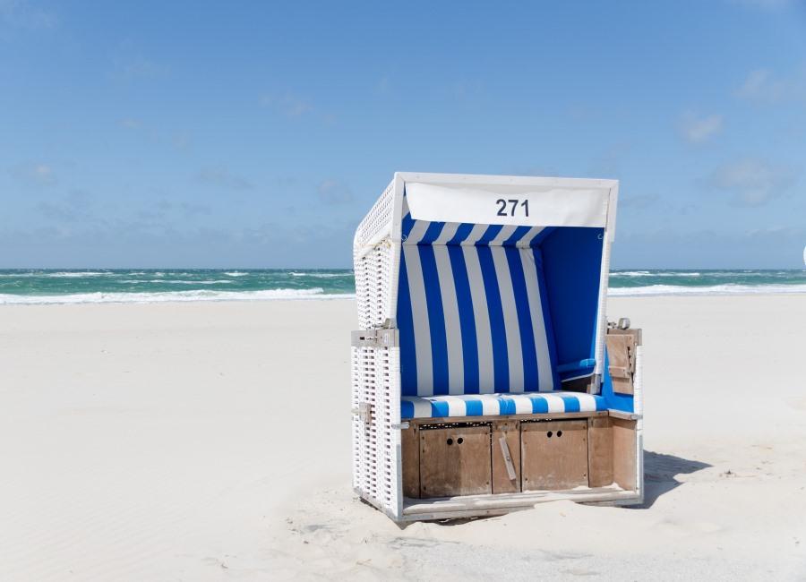 Strandkorb Urlaub Strand Meer