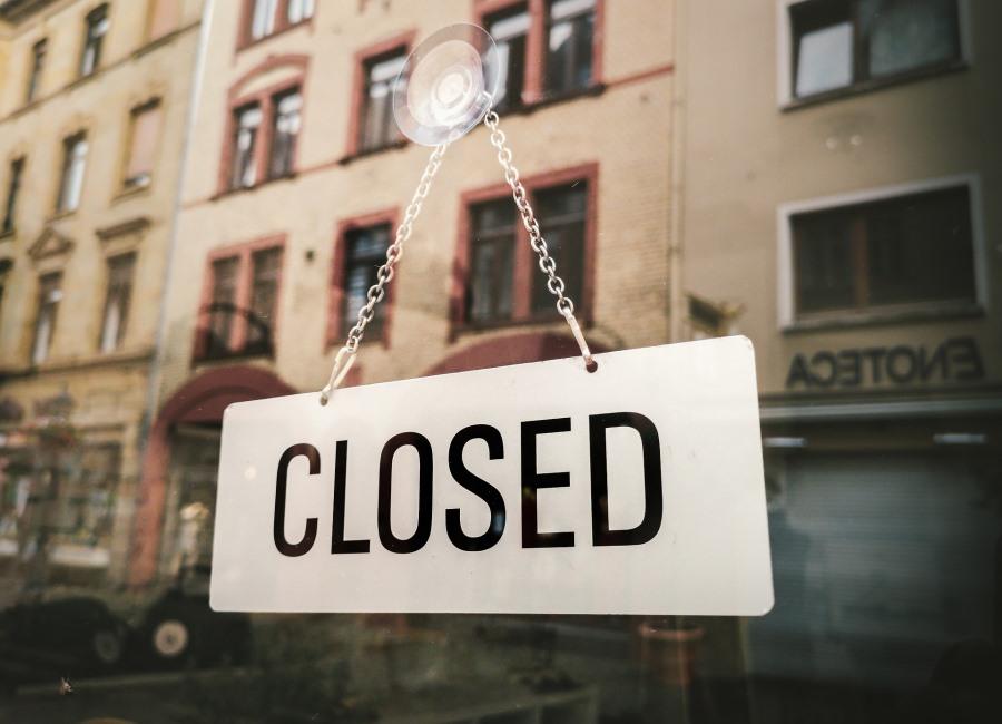 closed geschlossen Schild