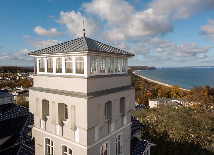 Das Vju Hotel liegt direkt in Kleinod am Kap mit einem unglaublichen Blick auf die Ostsee