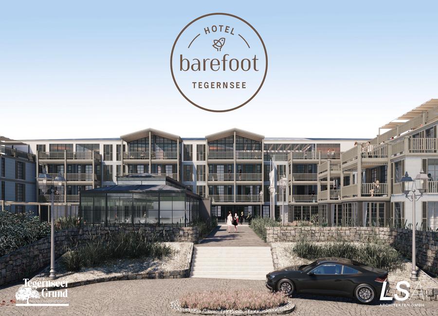 So wird der Hotelkomplex am Tegernsee nach der Fertigstellung final aussehen