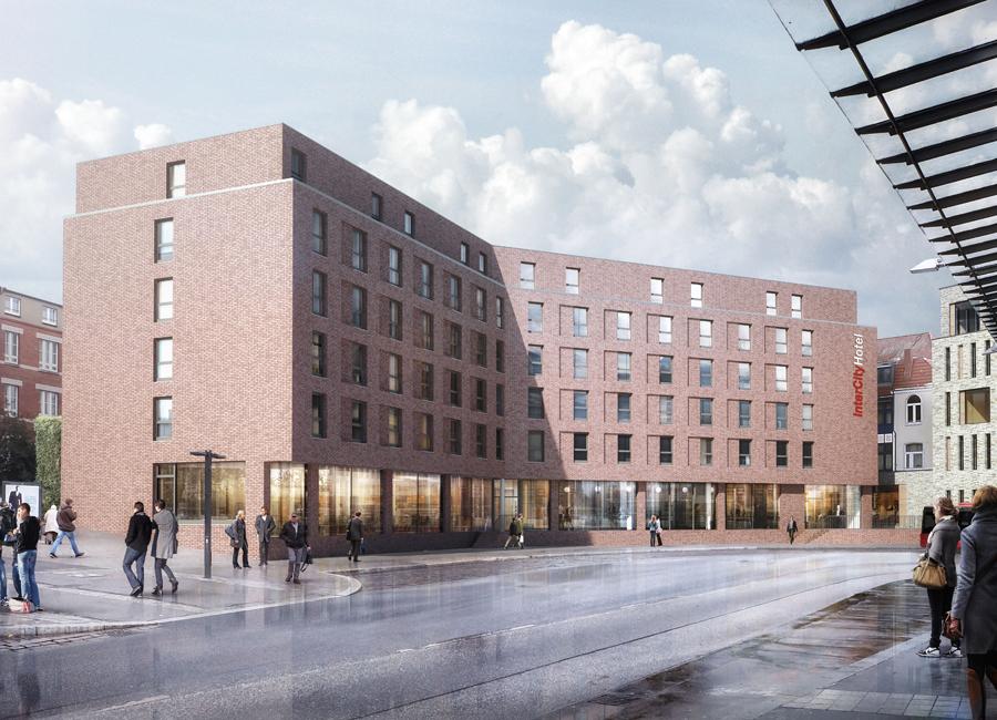 Neu in der Stadt der Sieben Türme: In Lübeck entsteht bis 2023 ein neues IntercityHotel