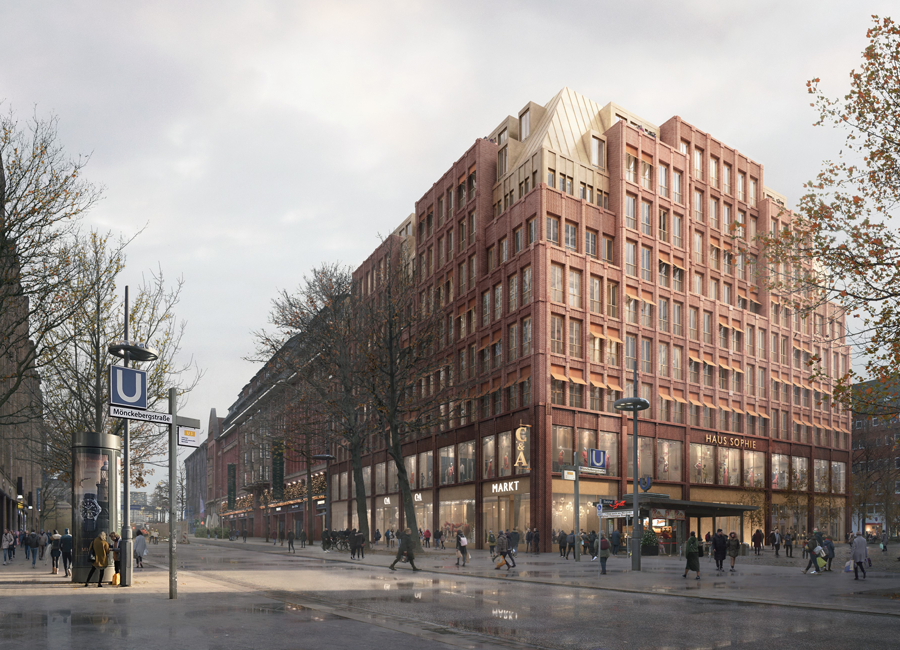 In einem klimaneutralen Bau entstehen mitten in Hamburg zwei neue Hotels von SV Hotel: Ein Hyatt Centric Boutique Hotel und ein Stay KooooK für Extended Stay. Die Eröffnung ist für 2025 geplant