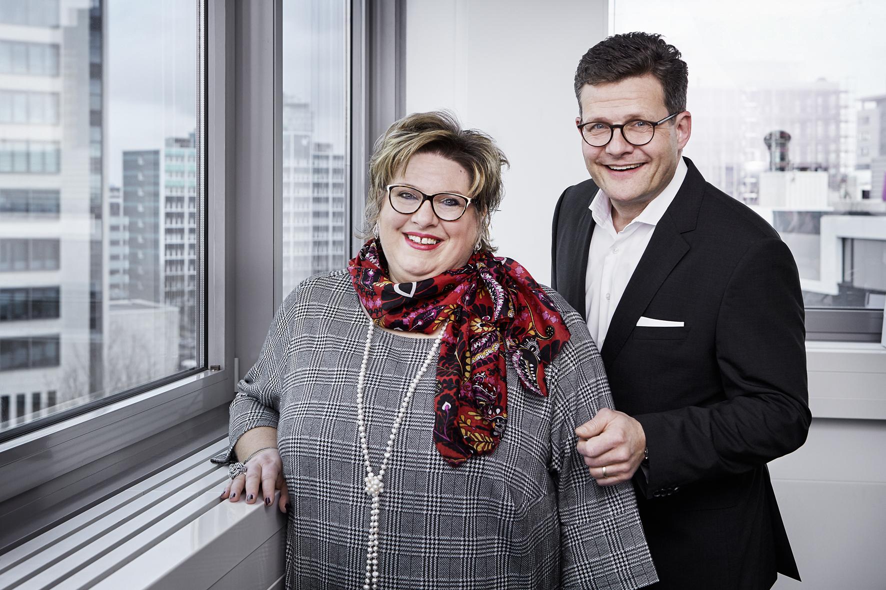 Carmen Dücker und Marcus Smola, Geschäftsführer der Hotelgruppe mit Sitz in Eschborn / Foto: BWH Hotel Group