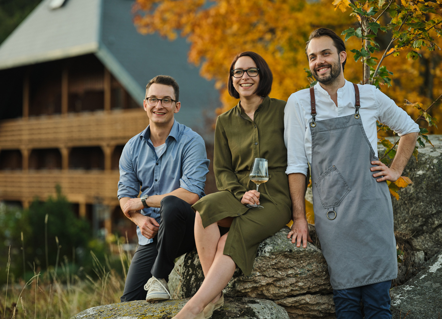 Marius Tröndle (links), Kerstin Bauer und Max Goldberg