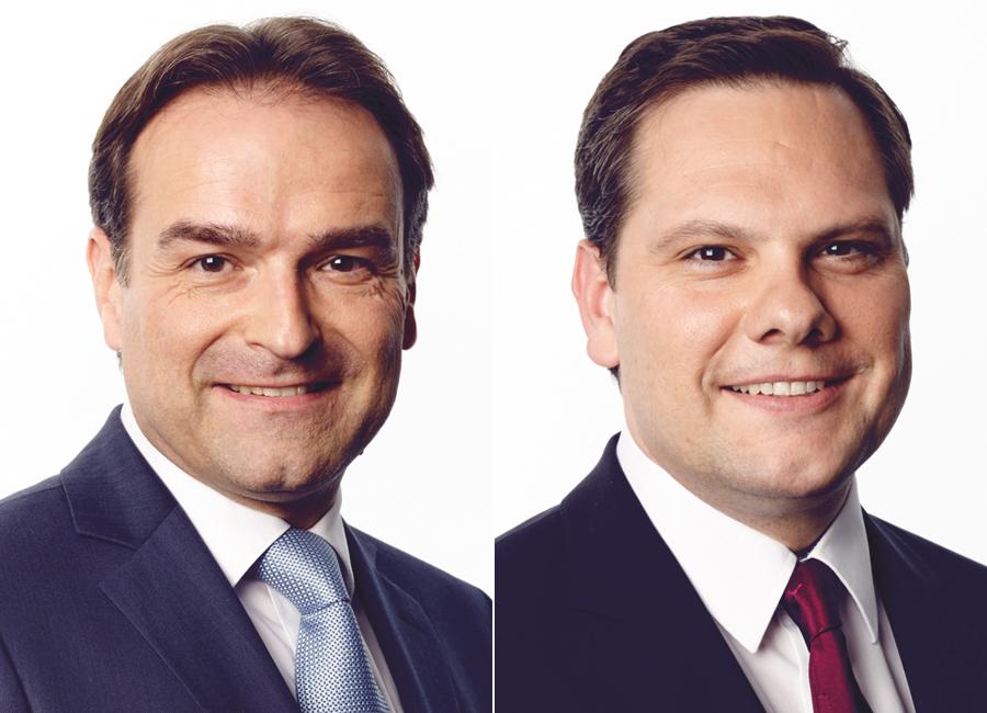 Die Rechtsanwälte Holger Blümle und Tobias Hirte von Schultze & Braun