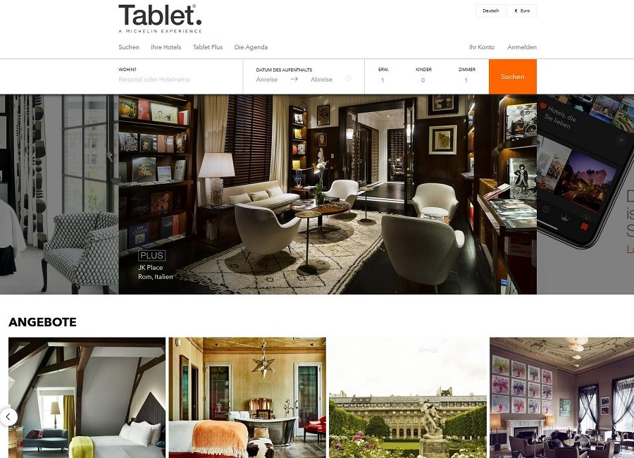 Michelin Tablet Hotelportal