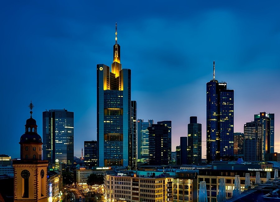 Frankfurt am Main abends